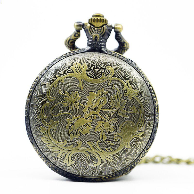40e01d1097eb Nový příjezd MERCEDES Coupe Car Design Vintage Retro Bronze kapesní hodinky  Quartz hodinky Náhrdelník Řetězec Muži Hodinky Uniesx Dárky