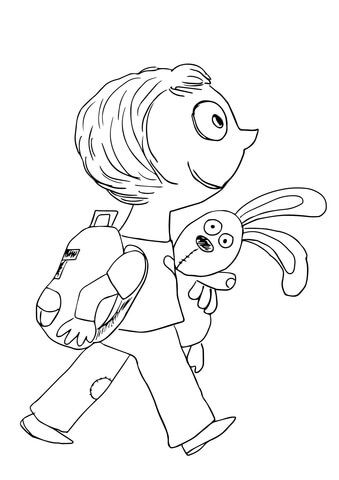Knuffle coloring page from Knuffle Bunny category. Select