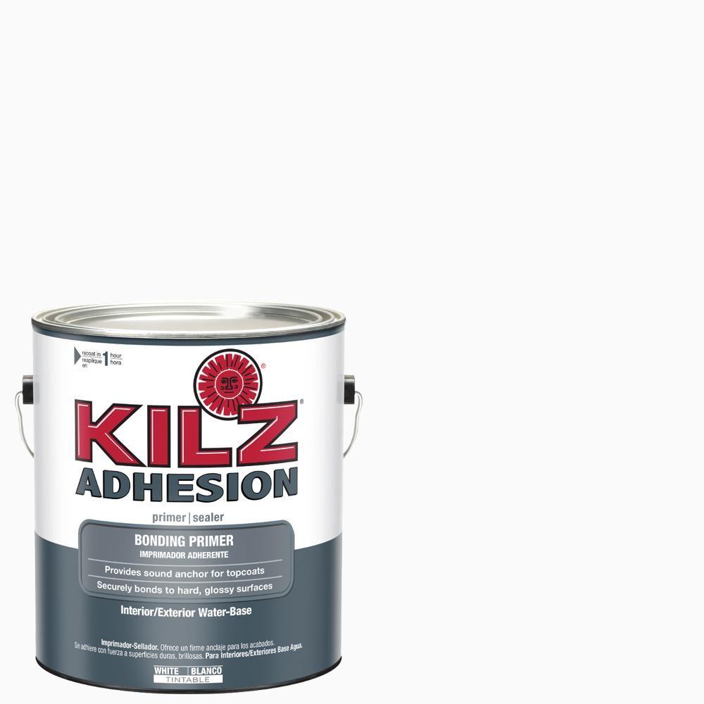 Kilz Adhesion 1 Gal White Bonding Interior Exterior Primer L211101 Exterior Primer Adhesive Primer