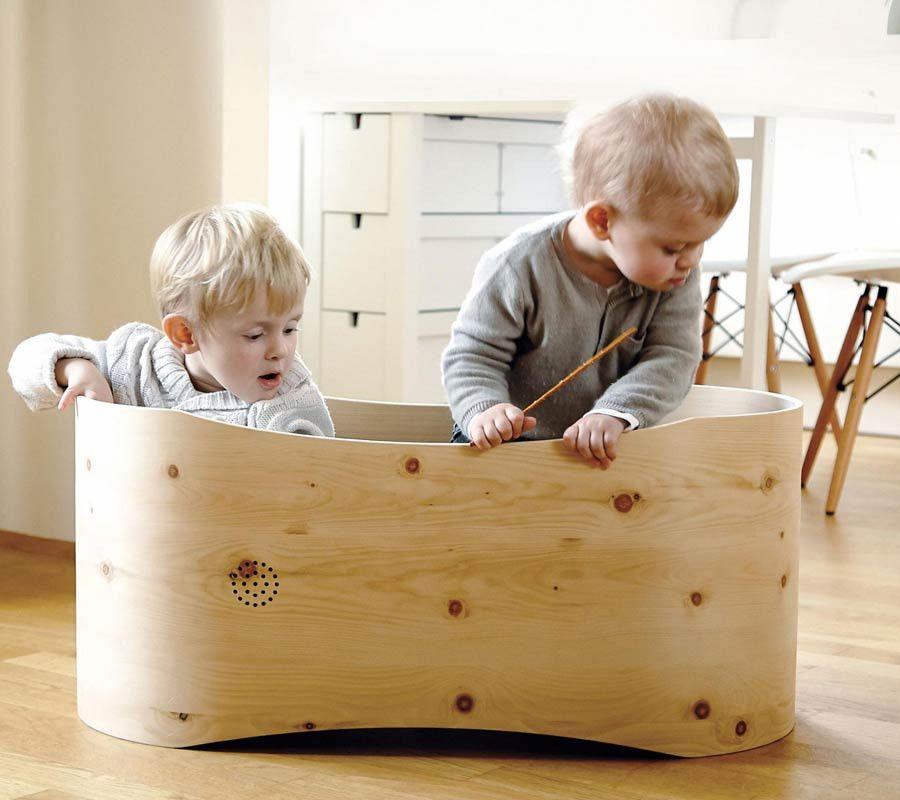 benni 39 s nest babybett aus zirbenholz inkl babymatratze und holzdeckel ab geburt kinderm bel. Black Bedroom Furniture Sets. Home Design Ideas