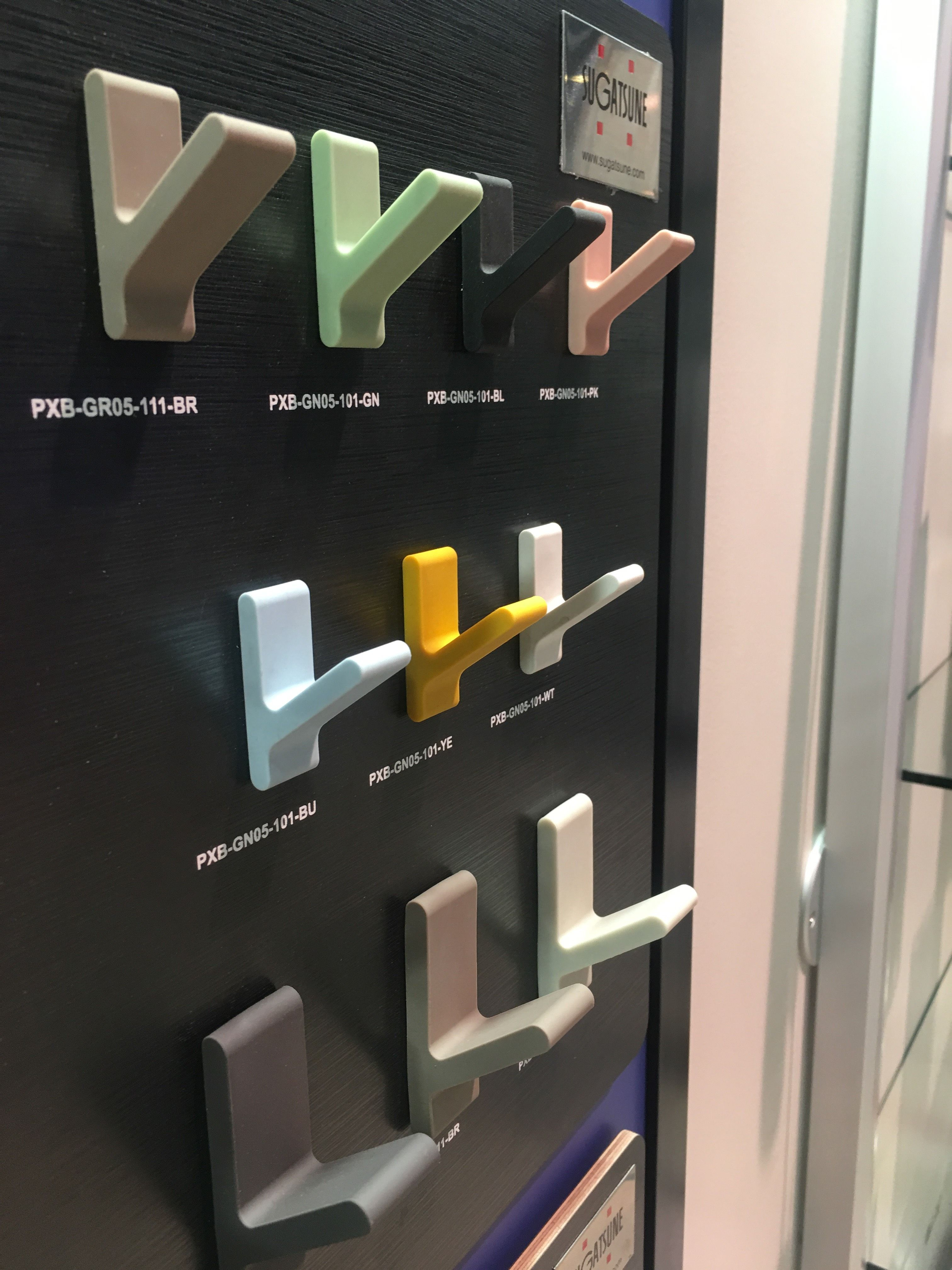 Add a little color to your home Hooks sugatsune GlobalShop2018