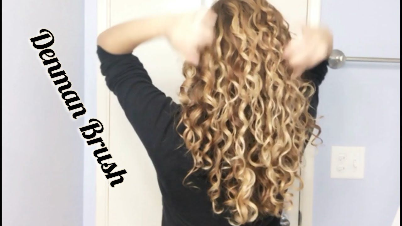 Denman Brush Curly hair treatment, Curly hair styles