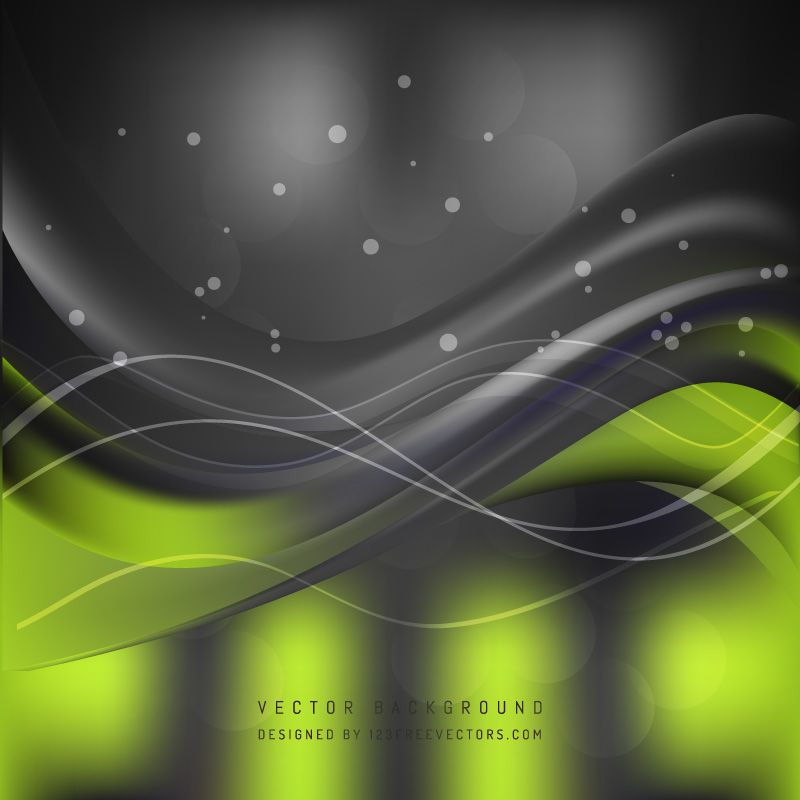 Black Green Wave Background Template