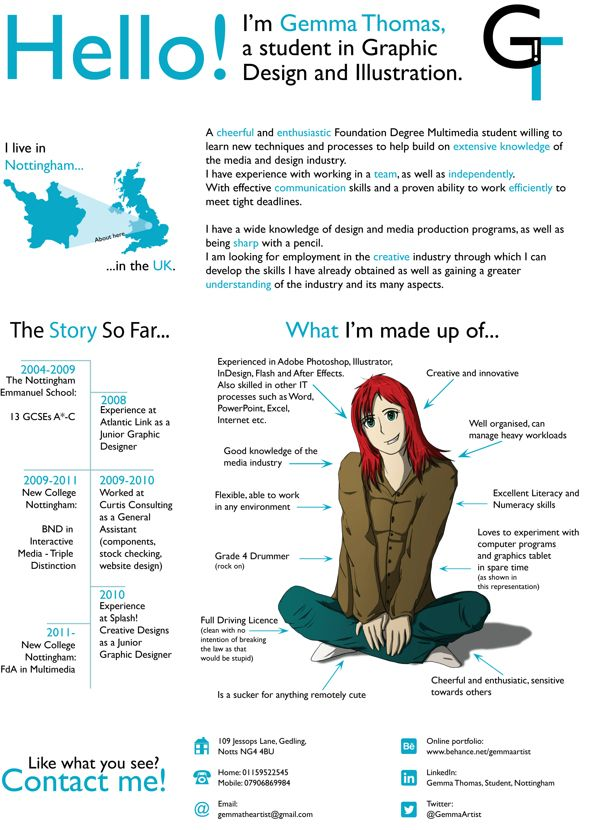 creative cv  resume by gemma thomas i would love to figure something out like this
