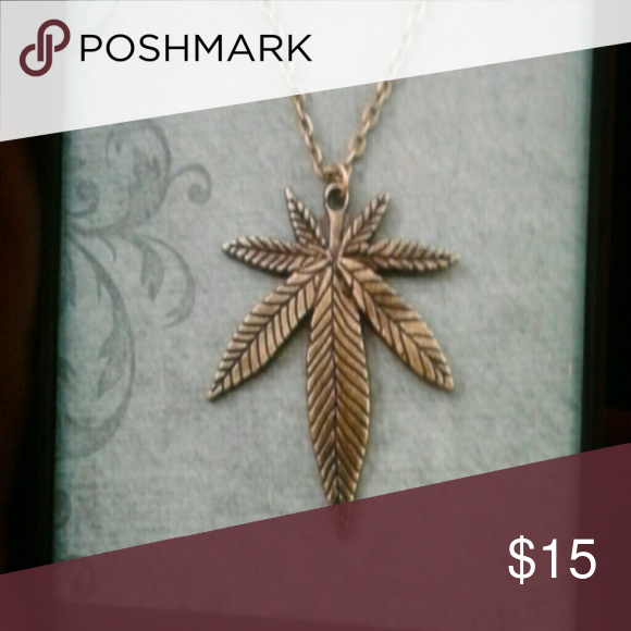 Hemp Leaf Chain Ppq Pendant Hemp Leaf Pendant Chain Jewelry Necklace