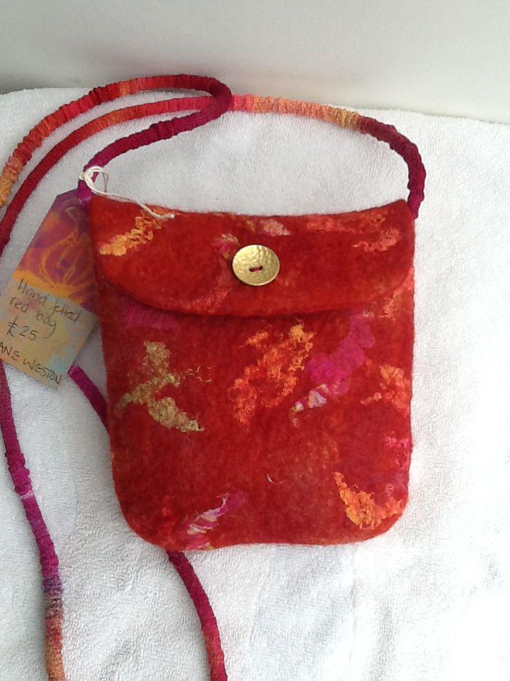 Hand felted bag