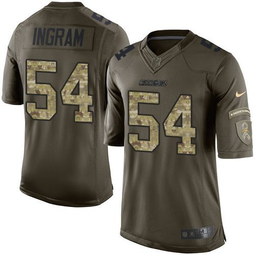 nike chargers 54 melvin ingram green youth stitched nfl limited salute to service jersey and