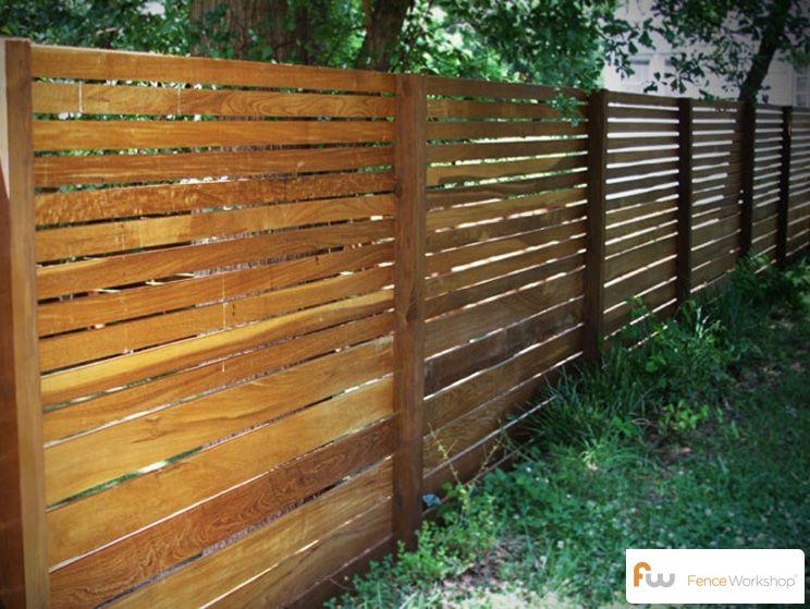 Pin By Fence Workshop On Modern Horizontal Fence Design Backyard Fences Modern Fence Front Yard Fence