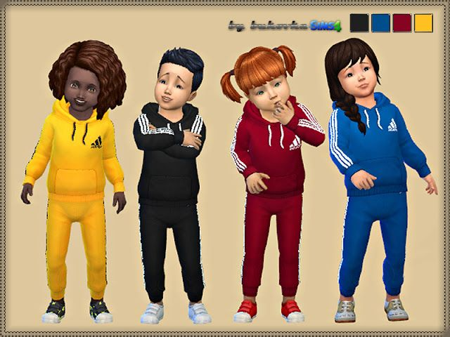 Sims 4 CC's - The Best: Toddlers Set Adidas by Bukovka