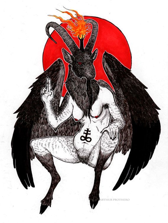 Your friendly neighborhood Baphomet rendered in lots of ink and some