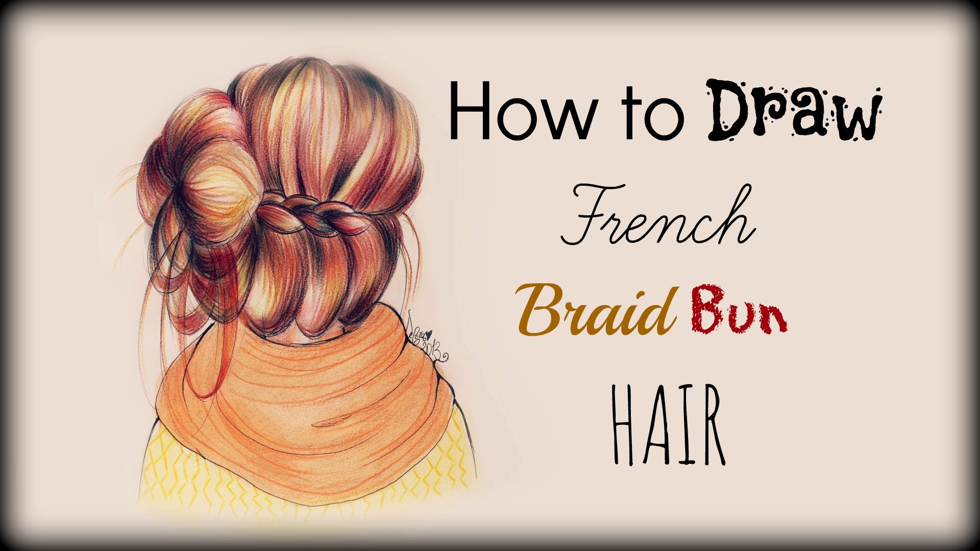 Drawing Tutorial How to draw and color French Braid Bun ...
