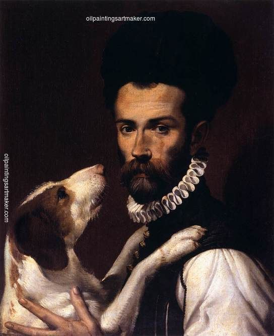 Bartolomeo Passarotti Portrait of a Man with a Dog