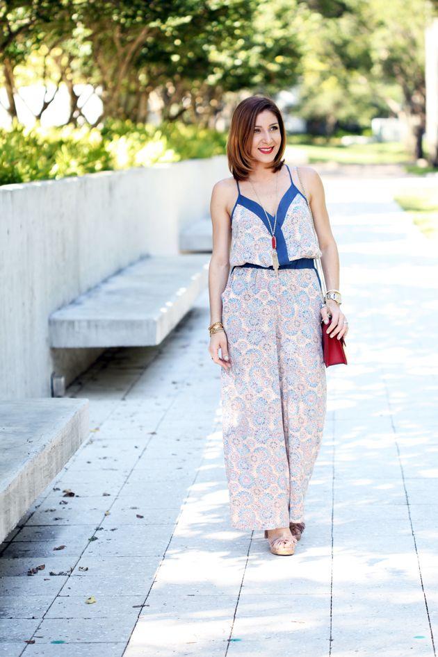 f8ec4169a7ff Blame it on Mei Miami Fashion Blogger 2016 Spring Look Summer Outfit  Palazzo Pants Jumpsuit Red Valentino Rockstud Crossbody Rocksbox Kendra  Scott Rayne ...
