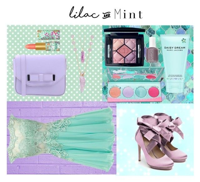 """lilac and mint"" by dianapalichuk ❤ liked on Polyvore featuring CO, Pieces, Liam Fahy, Christian Dior, Essie, tarte, Marc Jacobs, Sugarpill, colorchallenge and lilacandmint"