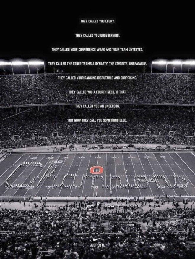 Nike's New Poster Featuring Ohio State Will Give You Chills | WBNS-10TV Columbus, Ohio