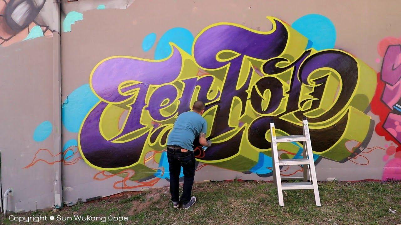 Graffiti art timelapse awesome place sydney newtown graffiti artist mr calder tani thank you