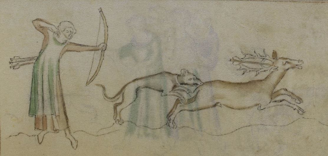 The Queen Mary Psalter 1310-1320 Royal MS 2 B VII  Folio 153r