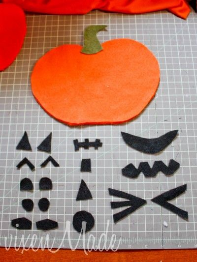 Felt Jack-o-Lantern Activity: following directions, emotions, and body parts!