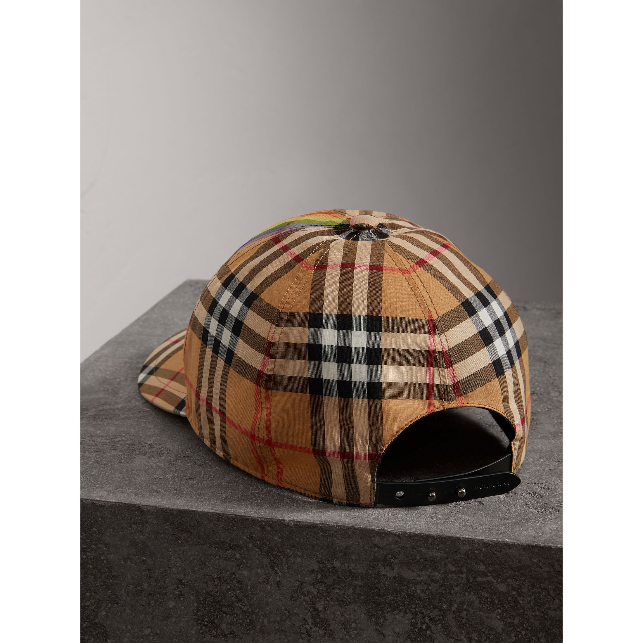 044a5c0eb49 Rainbow Vintage Check Baseball Cap in Antique Yellow rainbow