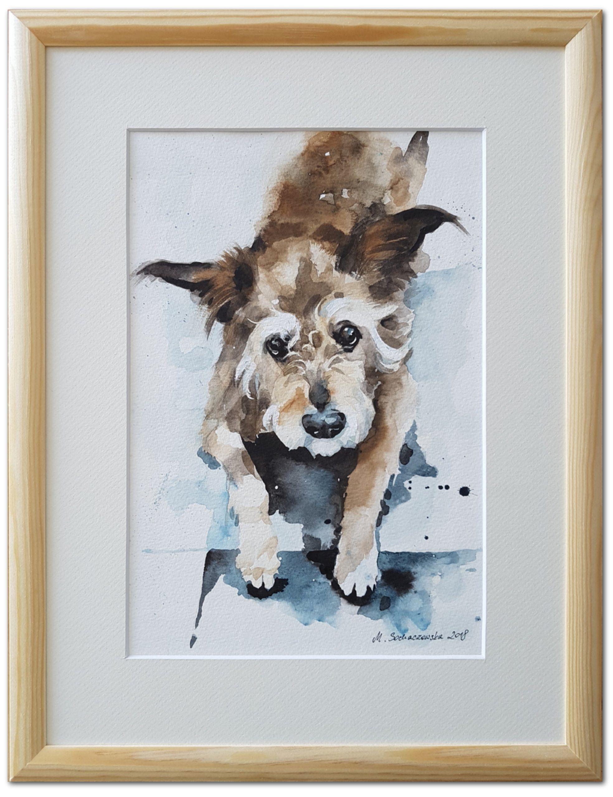 Portrety Zwierzat Na Zamowienie Oprawione 30x40 Cm 7012432409 Allegro Pl Wiecej Niz Aukcje Art Moose Art Watercolor