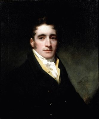 Portrait of Commander Hugh Clapperton (1788 - 1827) 1817c.  by Sir Henry Raeburn. Oil on canvas.  30 x 25 inches 76 x 63.5 cm
