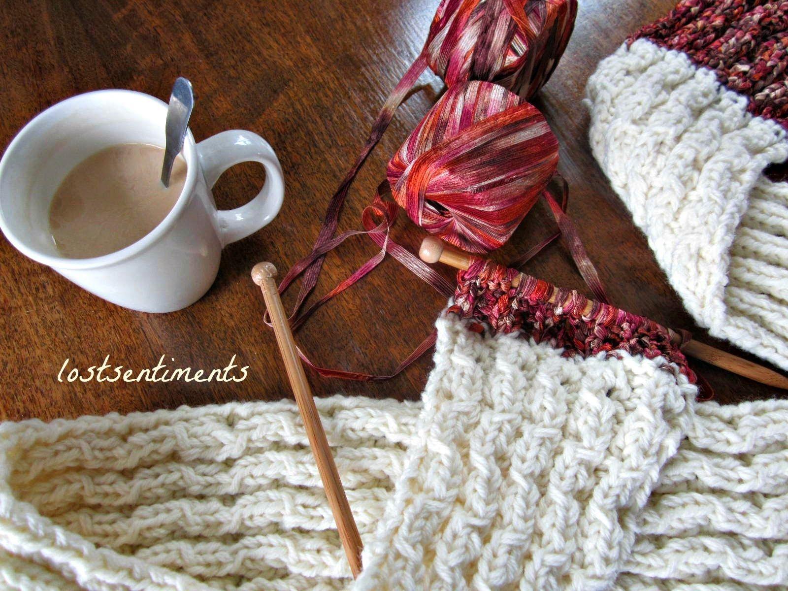 lostsentiments: Coconut Milk Peekaboo Lace Scarf Pattern - FREE ...