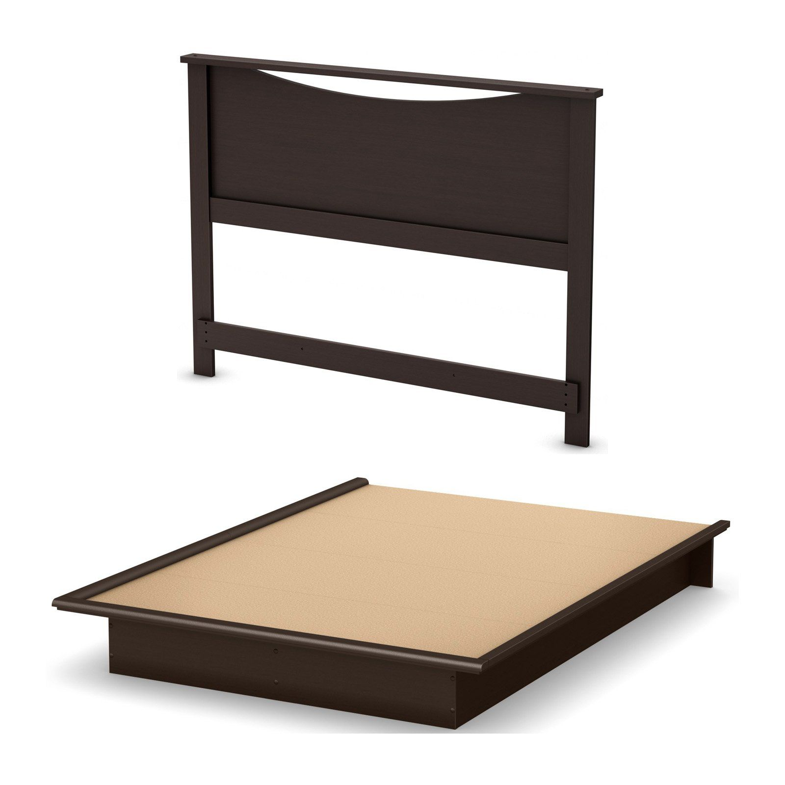 South Shore Step One Platform Bed With Headboard Queen Queen