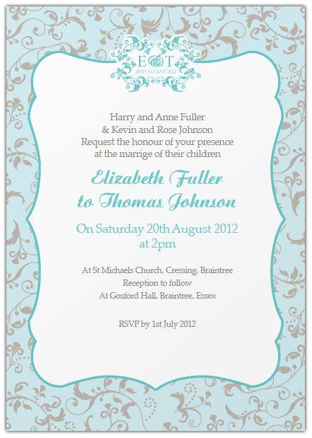 informal wedding invitation wording samples wedding Pinterest