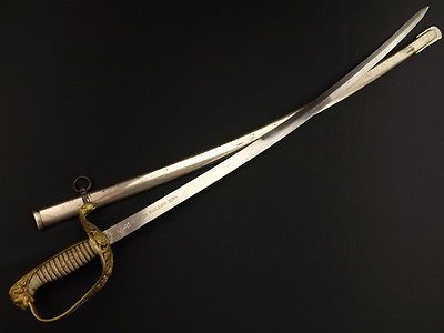 VERY-NICE-DATED-1896-TOLEDO-SPANISH-OFFICERS-LION-HEAD-SWORD-MAY-BE-NAVAL-NAVY