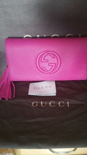 Gucci Soho Clutch Bag In Fuschia Pink Colour Price Negotiable Contact 085 111