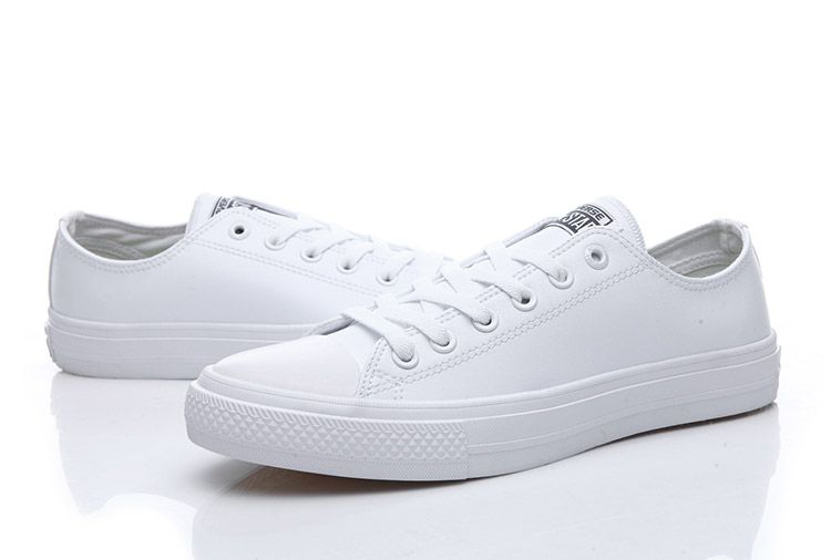 c2ffd999e105 Converse Chuck Taylor II All Star White Leather Clear Sole Low Shoes   converse  shoes