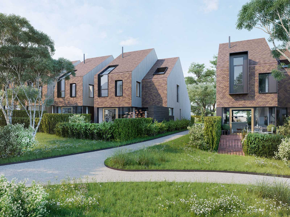 Two New Housing Estates In The Rural Village Of Waddesdon Just Over An Hours Drive From London New Housing Developments Terrace House Row House
