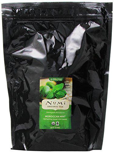 Numi Organic Tea Moroccan Mint, Herbal Teasan, Full Leaf,...
