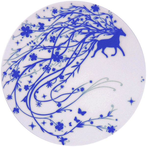 Authentics Table Stories 2 Horse Presentation plate found on Polyvore featuring polyvore, home, kitchen & dining, dinnerware, fruit cups, dessert cups, fruit salad bowl, contemporary dinnerware and dessert plates