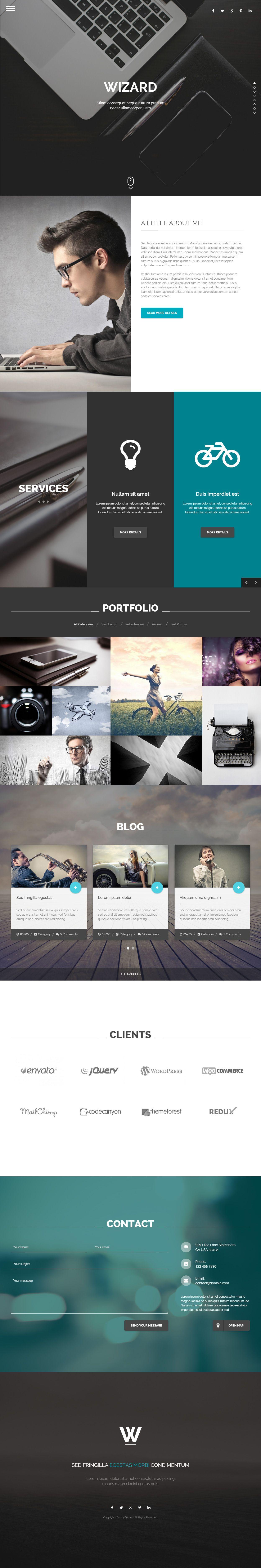 Wizard - Premium Responsive Portfolio HTML5 Template | Video ...