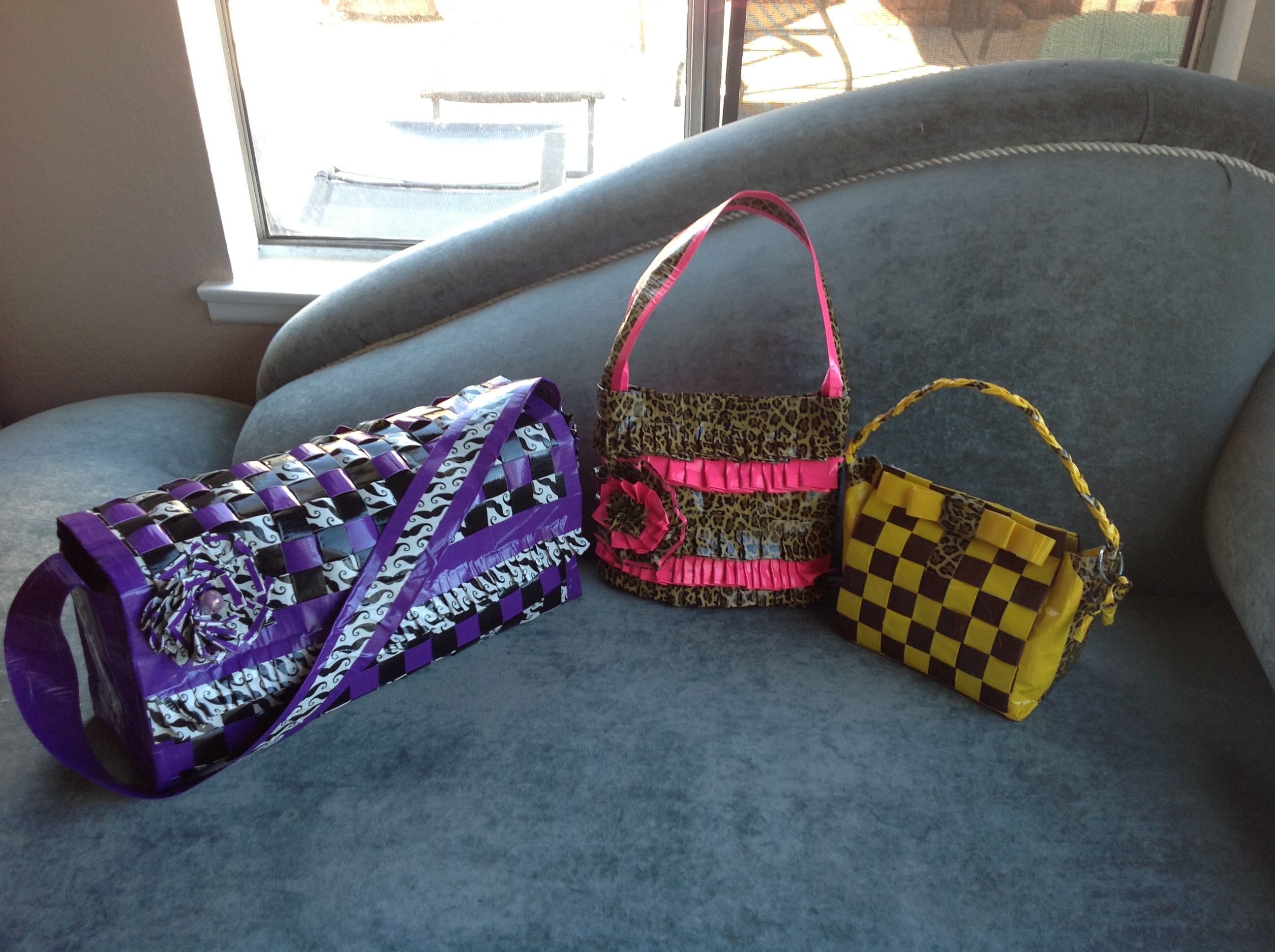 Book bag and two different style purses!
