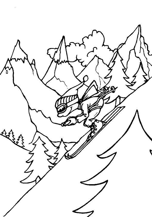 Dibujos para Colorear Deportes 68 | Dibujos para colorear para niños ...