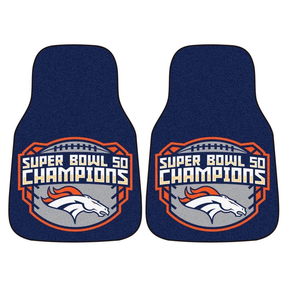 2 Denver Broncos Super Bowl 50 Nfl Car Truck Floor Mat Carpet Rug Fanmats Denver Broncos Super Bowl Nfl Car Super Bowl 50