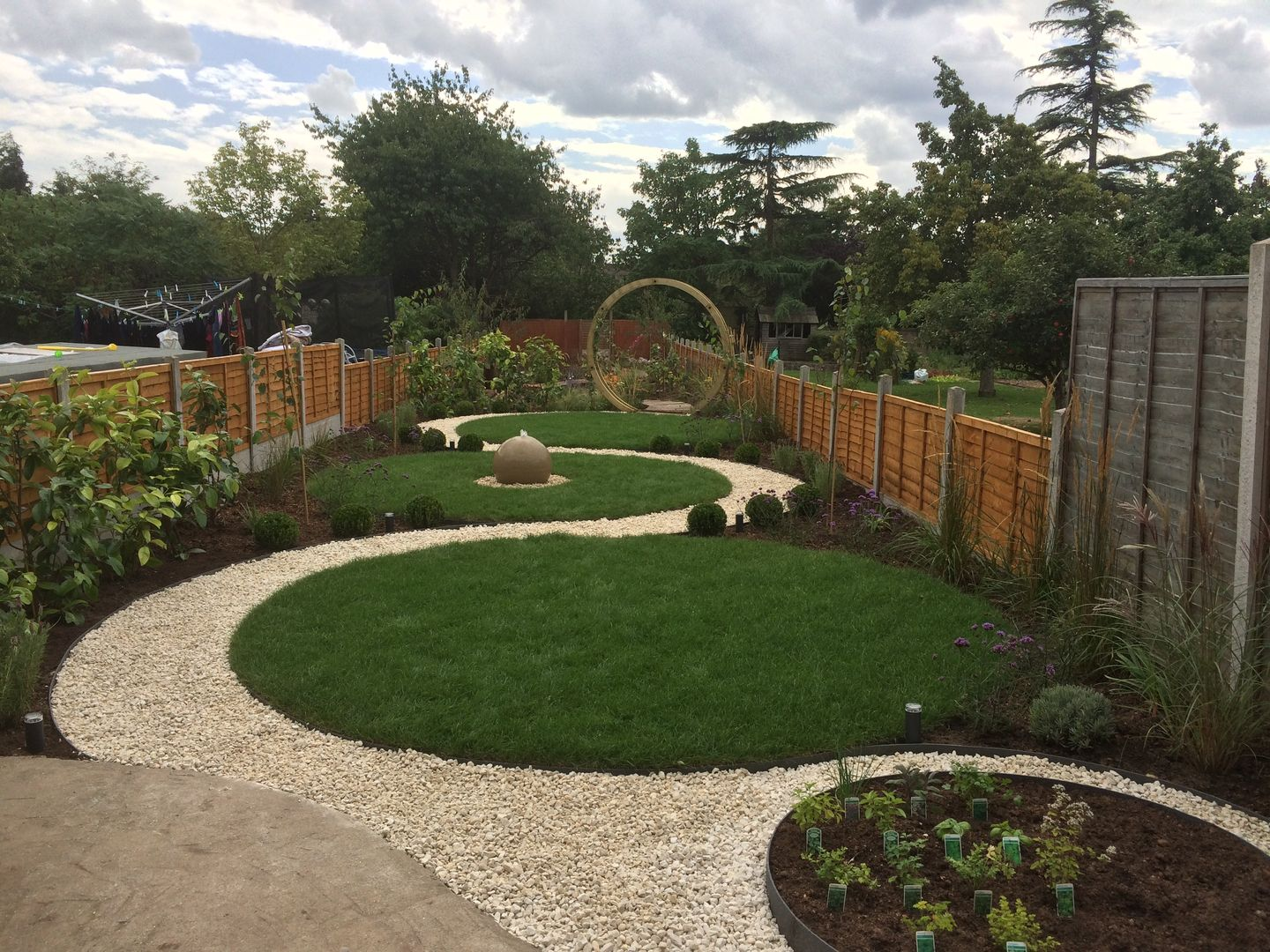 Image result for pathways for long and narrow gardens