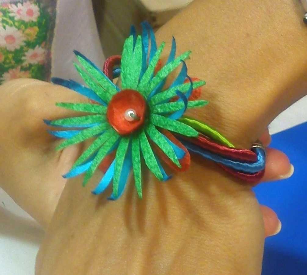 handmade silk cocoons bracelet No65