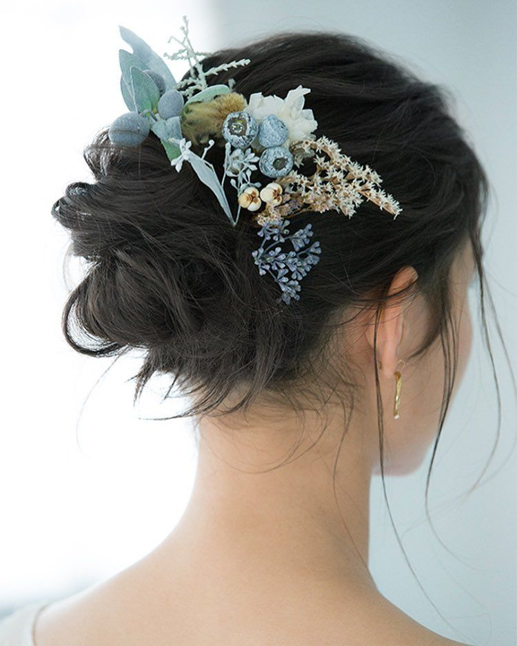 Anela Clothing On Instagram ゼクシィアプリにてアーネラクロージングのウェディングドレスをご紹介頂いております 黒髪花嫁だから似合うヘアアレンジ アーネラクロージング Anelaclothing Hair Images Wedding Hairstyles Hair Styles