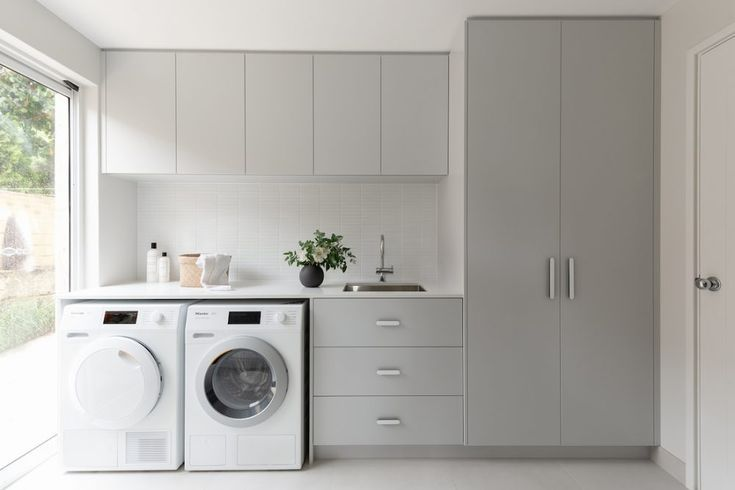 A laundry makeover that's practical, functional AND beautiful