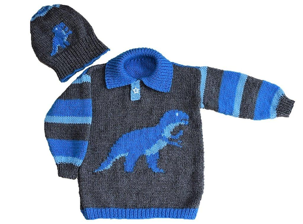 T Rex Sweater and Hat Knitting pattern by iKnitDesigns ...