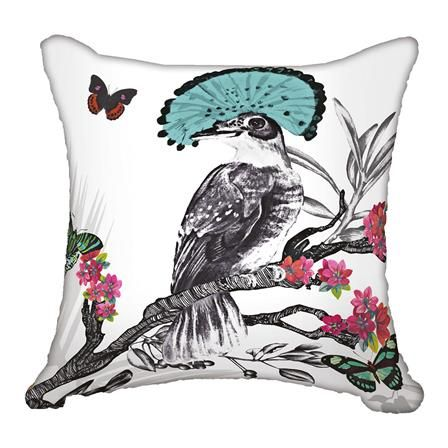 Mystical Forest Cushion in White W45 x D45 cm