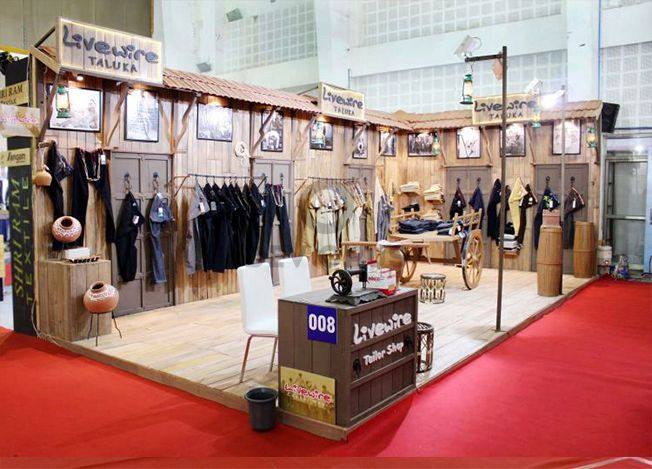 Exhibition Stall Manufacturer In Gujarat : Village theme garment exhibition stall design and fabrication at
