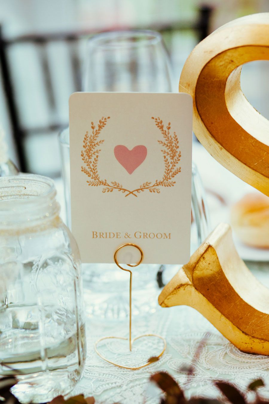 Sweet Blush Mint and Gold Wedding