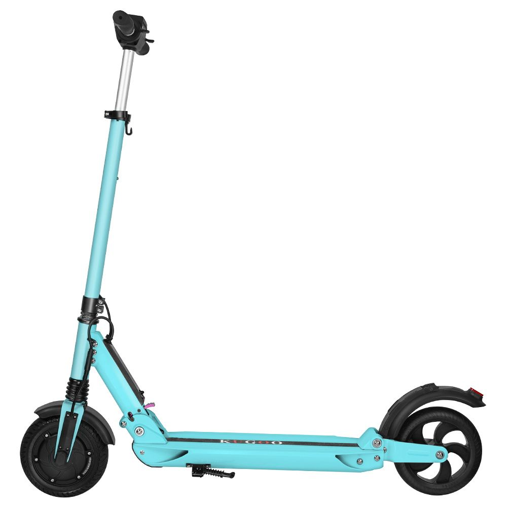 KUGOO S1 Folding Electric Scooter 350W Motor LCD Display Screen 3 Speed Modes 8.0 Inches Solid Rear Anti-Skid Tire IP54 Waterproof - Blue