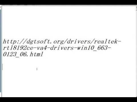 RealTek RTL8192CE-VA4 Drivers for Windows 10 (32bit 64 bit