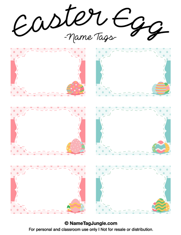 Printable Easter Egg Name Tags Egg Names Easter Printables Free Easter Tags Free Printable