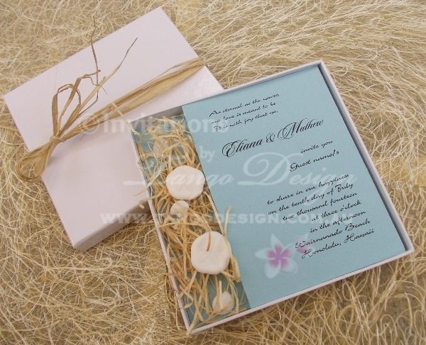 17 Best images about Wedding Invitations – Handmade Beach Wedding Invitations
